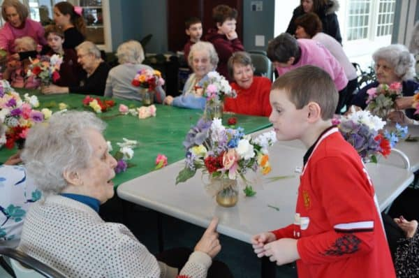 The interaction between residents and students is part of the fun