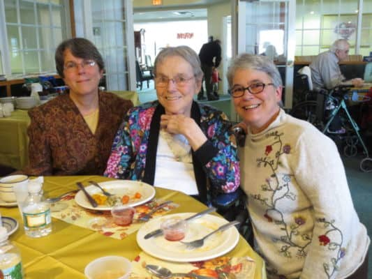 Residents sometimes dine in the library on special occasions