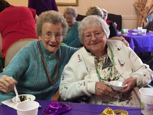 Residents celebrating Mardi Gras