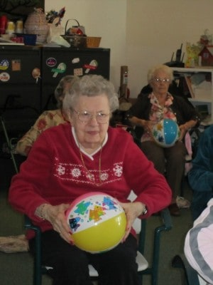 Residents enjoy our exercise room