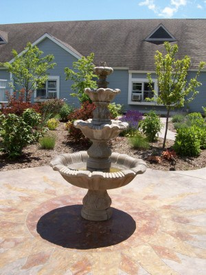 Special Care Unit garden and fountain
