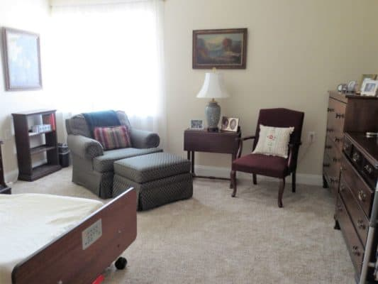 Rooms at The Meadows are spacious, light-filled and carpeted.